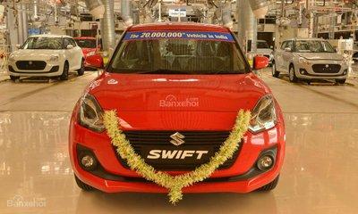 Suzuki Swift là chiếc xe thứ 20 triệu do Suzuki sản xuất tại Ấn Độ z