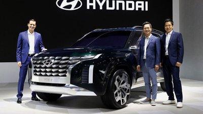 Hyundai Grandmaster - Bản phác họa mới nhất của SUV 8 chỗ Palisade.