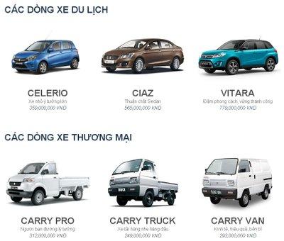 Danh mục xe du lịch của Suzuki chỉ còn Celerio, Ciaz và Vitara.
