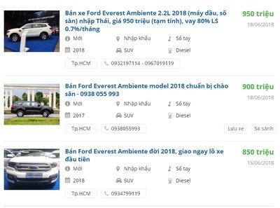 Ford Everest Ambiente MT xuất hiện trong bảng sản phẩm của hãng, giá đặt cọc từ 850 triệu - Ảnh 3.