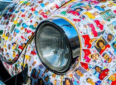 Volkswagen Beetle gây sửng sốt với bộ cánh in ảnh 1.500 cầu thủ World Cup 2018 3.