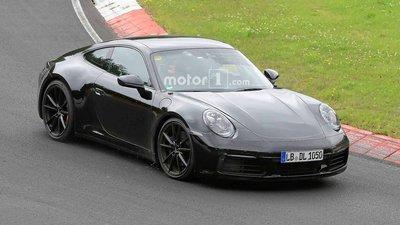 """Porsche 911 hoàn toàn mới lộ diện """"trần trụi"""" trên đường thử 1"""