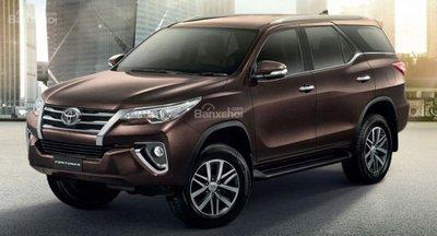 Giá xe Toyota Fortuner tháng 4/2019.