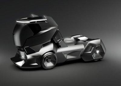Audi hé lộ concept xe tải hầm hố hơn Tesla Semi.