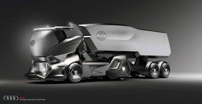 Audi hé lộ concept xe tải hầm hố hơn Tesla Semi 3
