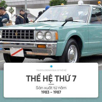 Điểm lại chặng đường 15 thế hệ của sedan hạng sang Toyota Crown 9.