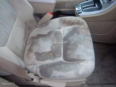 Lau chùi vết bẩn trên ghế ô tô z