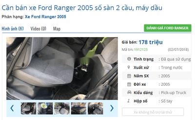 Mua xe bán tải cũ dưới 200 triệu cần lưu ý điều gì? - Ford Ranger  a2