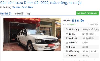 Mua xe bán tải cũ dưới 200 triệu cần lưu ý điều gì? - Isuzu Dmax a4