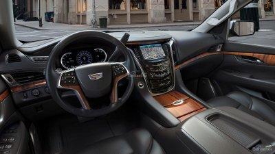 Nội thất xe Cadillac Escalade 2018.