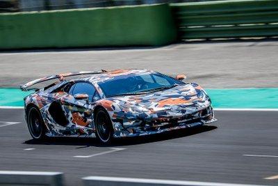 Lamborghini Aventador SVJ hé lộ màu sơn ngoại thất trước ngày ra mắt a7