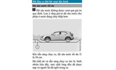 Khả năng vượt độ sâu nước của Mercedes-Benz GLC