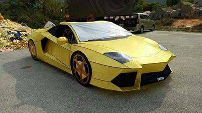 Cúng Rằm tháng 7, chọn Lamborghini Aventador phiên bản mã vàng chi tiết như thật?.