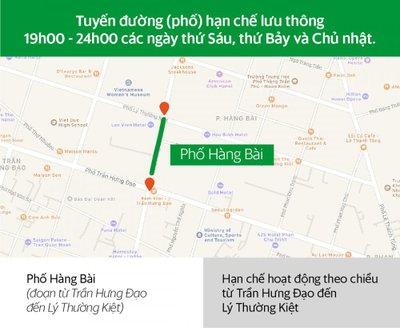 Những tuyến đường hạn chế lưu thông tại Hà Nội đối với xe hợp đồng dưới 9 chỗ