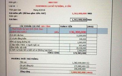 """Vụ Toyota Fortuner bán kèm phụ kiện trăm triệu: Đại lý """"hạ nhiệt"""" do khách làm căng a3"""