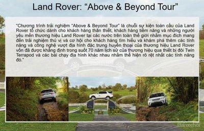 """Chương trình trải nghiệm thực tế """"Above & Beyond Tour"""" của Land Rover tại VMS 2018.."""