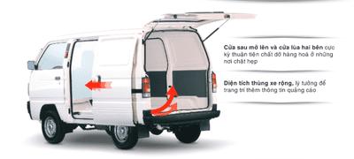 Thiết kế ngoại thất của Suzuki Blind Van 2018 a3