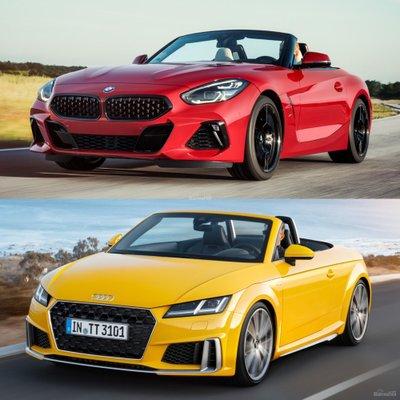 So sánh BMW Z4 2019 và Audi TT Roadster - Đầu xe.