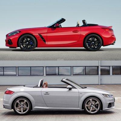 So sánh BMW Z4 2019 và Audi TT Roadster - Thân xe.