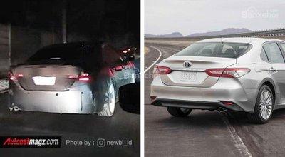 Toyota Camry đời mới trùm kín chạy thử - 3