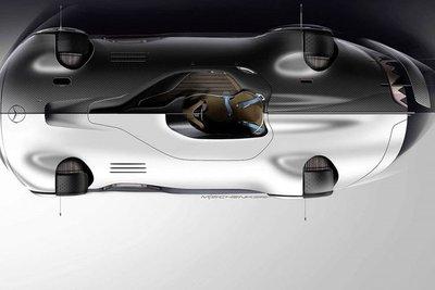 Siêu xe điện Mercedes EQ Silver Arrow concept tuyệt đẹp ra mắt - Ảnh 4.