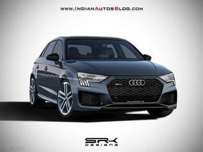Audi RS 3 Sportback 2020 tung ảnh phác thảo.