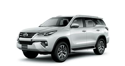 Ngoại thất Toyota Fortuner màu trắng