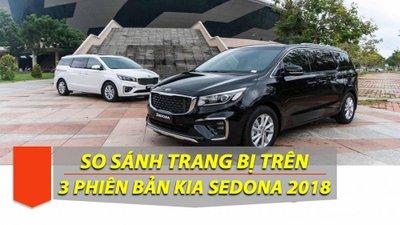 Trang bị trên 3 phiên bản của Kia Sedona 2019 có gì khác nhau? 1