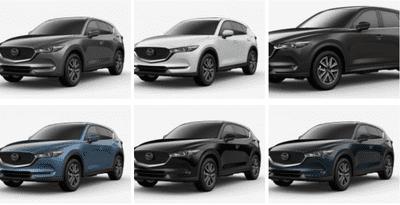Bộ 6 màu hiện tại của Mazda CX-5