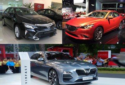So sánh giá xe VinFast LUX A2.0 với các đối thủ trong tầm giá 800 triệu.