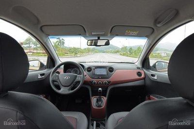 Khoang nội thất Hyundai Grand i10 2018 đang bán tại Việt Nam..