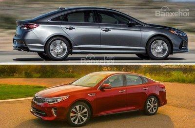 So sánh Kia Optima và Hyundai Sonata 2019 về mức tiêu hao nhiên liệu.