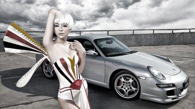 Người đẹp Trung Quốc cá tính bên siêu xe Porsche 911 Carrera 4S - Ảnh 1.