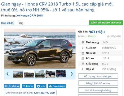 Hết thời bia kèm lạc, Honda CR-V quay vế đúng giá thật nhận ưu đãi từ 10-20 triệu đồng tại đại lý - Ảnh 1.