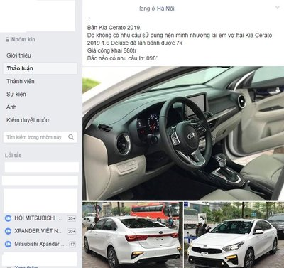 Kia Cerato 2019 cũ được rao bán cao hơn giá niêm yết xe mới tại Việt Nam a1