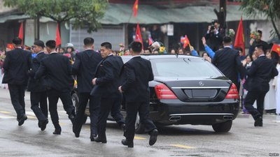 Nhà lãnh đạo Triều Tiên sử dụng xe sang không biển số