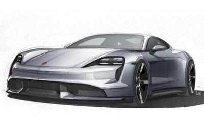 Porsche Taycan EV 2019 - đầu xe