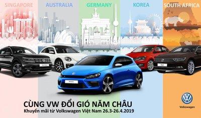 """Volkswagen Việt Nam tặng gói du lịch """"Năm châu"""" cho khách hàng mua xe mới  a"""