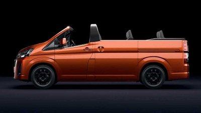 Chiêm ngưỡng Toyota Hiace phiên bản mui trần đặc biệt 8