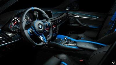 Chiêm ngưỡng BMW X6 M độ nội thất xanh - đen đẹp huyền bí.