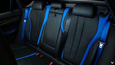 Chiêm ngưỡng BMW X6 M độ nội thất xanh - đen đẹp huyền bí 14