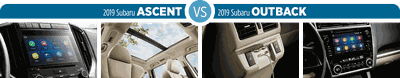Chọn Subaru Outback 2019 hay Subaru Ascent 2019: Công nghệ kết nối đỉnh cao
