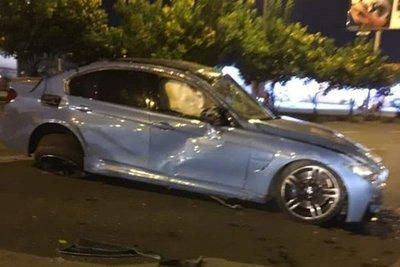 BMW M3 cũ của đại gia Cường Đô La gặp nạn thảm khốc ở TP.Hồ Chí Minh2asas