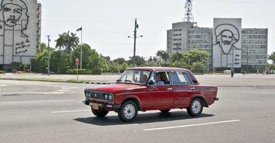 Một chiếc Lada-1600 được sản xuất từ thời Liên Xô cũ...