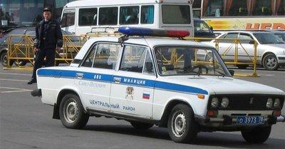 Xe Lada được lực lượng cảnh sát Nga sử dụng...