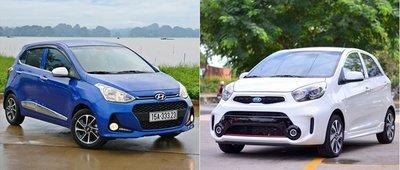 Kia Morning và Hyundai i10...