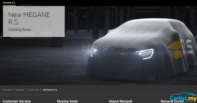 Renault Megane R.S. tung ảnh teaser