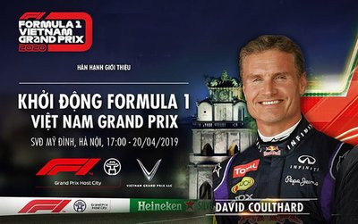 David Coulthard cùng đội Red Bull chuẩn bị biểu diễn đua xe F1 tại Mỹ Đình
