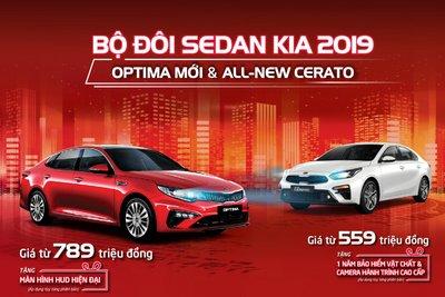 Kia Optima 2019 mới vừa ra mắt đã được tặng phụ kiện.