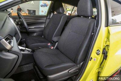 ghế ngồi xe Toyota Yaris 2019